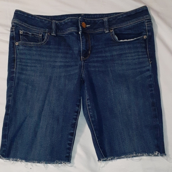 American Eagle Outfitters Pants - American Eagle Slim Boot Cut-Off Jean Shorts 14